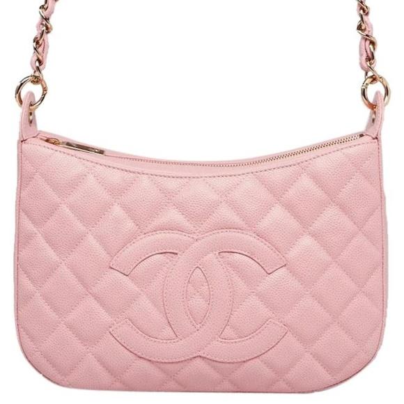 9fbbb3e9042b CHANEL Handbags - CHANEL Pink CC Caviar Leather Timeless Hobo